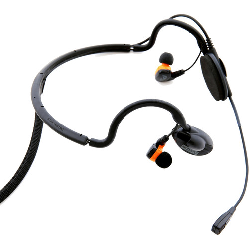 Point Source Audio Dual In-Ear Intercom Headset with 5-Pin Male XLR for Stereo RTS Systems