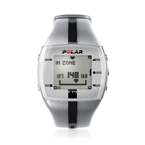 Polar FT4 Training Computer Watch (Silver/Black)
