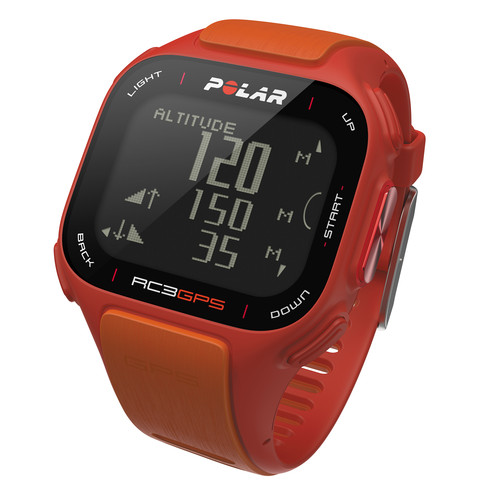 Polar RC3 GPS Fitness Watch with Heart Rate Monitor (Red/Orange)