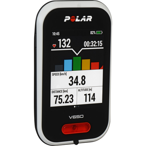 Polar V650 Cycling Computer with H6 Heart Rate Sensor
