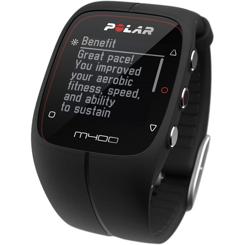 Polar M400 Sports Watch with GPS & Heart Rate Monitor (Black)