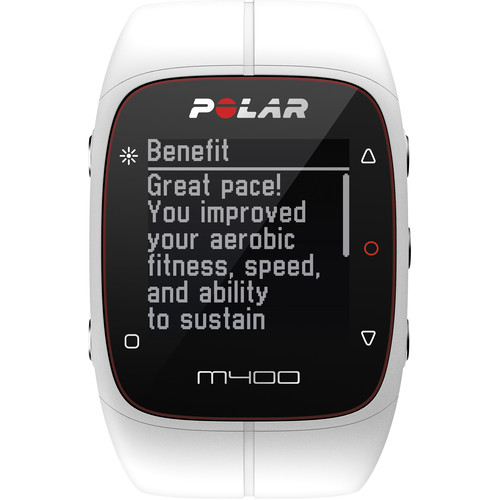 Polar M400 Sports Watch with GPS & Heart Rate Monitor (White)