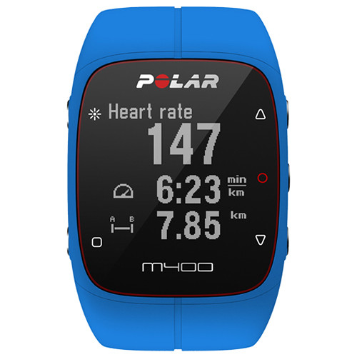Polar M400 Sports Watch with GPS & Heart Rate Monitor (Blue)