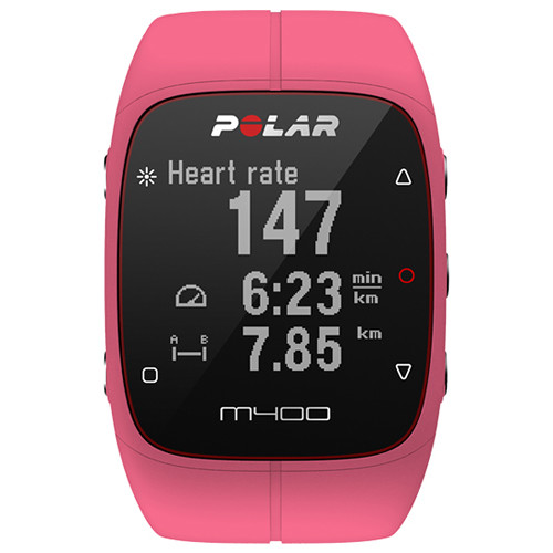 Polar M400 Sports Watch with GPS & Heart Rate Monitor (Pink)