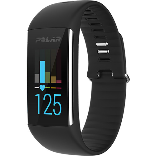 Polar A360 Fitness Tracker with Wrist-Based Heart Rate (Medium, Charcoal Black)