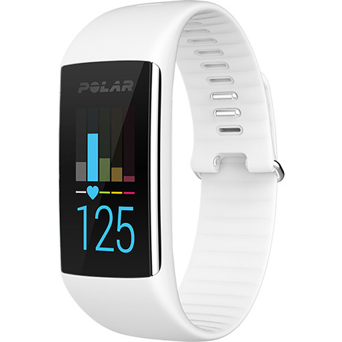 Polar A360 Fitness Tracker with Wrist-Based Heart Rate (Small, Powder White)