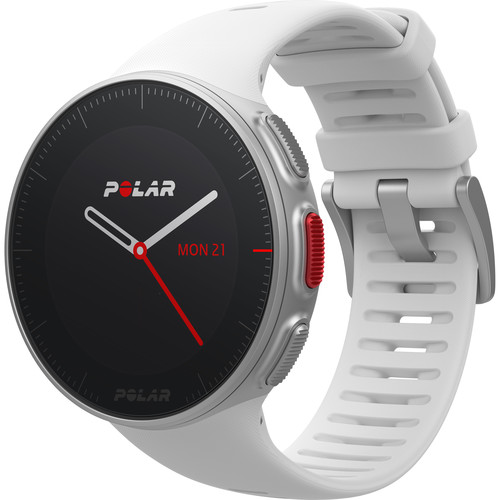 Polar Vantage V Multisport/Triathlon GPS Watch with H10 Heart Rate Sensor (M/L, White)