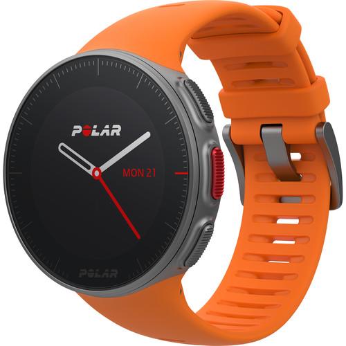 Polar Vantage V Multisport/Triathlon GPS Watch with H10 Heart Rate Sensor (M/L, Orange)