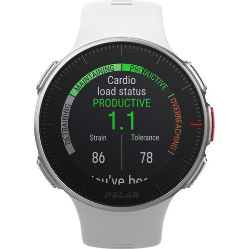 Polar Vantage V Multisport/Triathlon GPS Watch (M/L, White)
