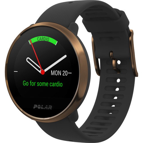 Polar Ignite GPS Fitness Watch with Heart Rate Monitor (Medium/Large, Black/Copper)