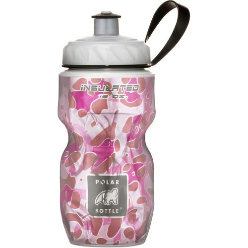 Polar Bottle Insulated Sport Bottle (12 fl oz , Pink Leopard)