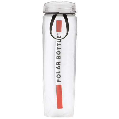 Polar Bottle Ergo Insulated Water Bottle (22 fl oz, Red Stripe)