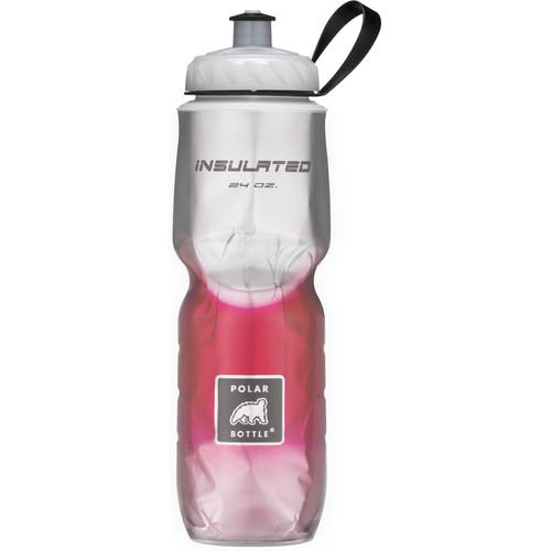 Polar Bottle Insulated Sport Bottle (24 fl oz , Fade Red)