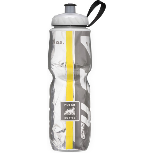 Polar Bottle Insulated Sport Bottle (24 fl oz , Team Black and Yellow)