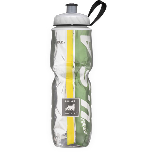 Polar Bottle Insulated Sport Bottle (24 fl oz , Team Green and Yellow)