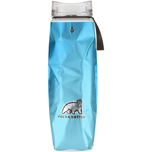 Polar Bottle Ergo 22 oz Insulated Water Bottle (Blue Halftone)