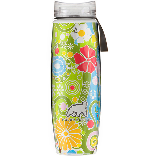 Polar Bottle Ergo Insulated Water Bottle (22 fl oz, Flower Candy)