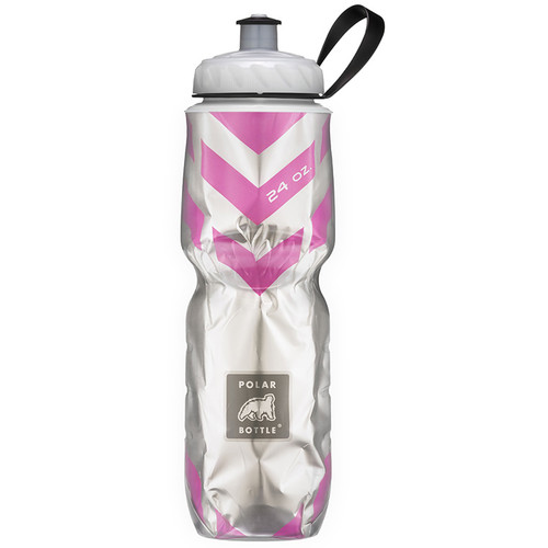 Polar Bottle Insulated Sport Bottle (24 fl oz , Chevron Pink)