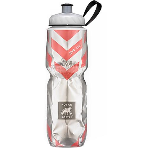 Polar Bottle Insulated Sport Bottle (24 fl oz , Chevron Red)