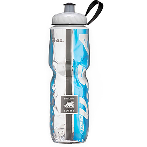 Polar Bottle 24 oz Insulated Sport Bottle (Team Light Blue and Black)