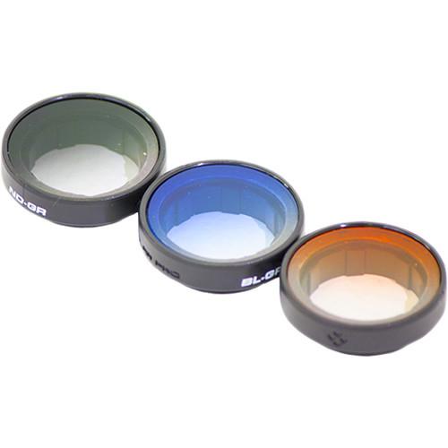 Polar Pro Frame2.0 Gradient Filter 3-Pack for GoPro HERO4, HERO3+, and HERO3