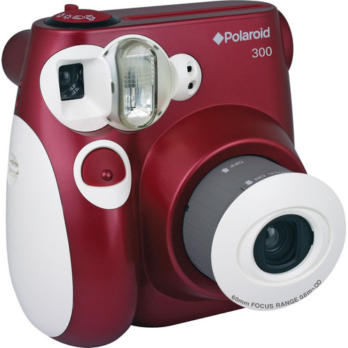 Polaroid 300 Instant Film Camera with Faux Leather Carrying Case Kit (Red)