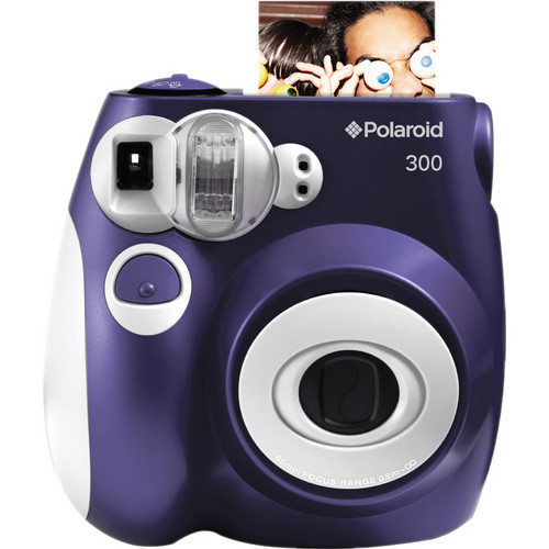 Polaroid 300 Instant Film Camera with Carrying Case and Film Kit (Purple)