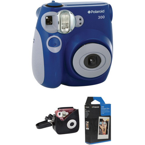 Polaroid 300 Instant Film Camera with Carrying Case and Film Kit (Blue)