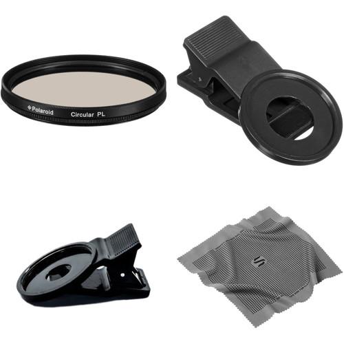 Polaroid 37mm Circular Polarizer Filter Smartphone Kit