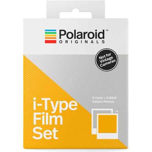 Polaroid Originals Color and Black & White i-Type Instant Film Set (Double Pack, 16 Exposures)