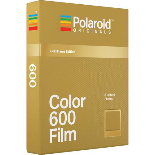 Polaroid Originals Color 600 Instant Film (Metallic Gold Frames Edition, 8 Exposures)