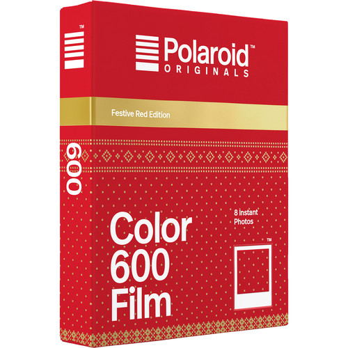 Polaroid Originals Color 600 Instant Film (Festive Red Edition, 8 Exposures)