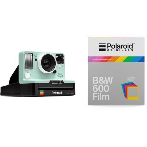 Polaroid Originals OneStep2 VF Instant Film Camera with Black & White Color Frames Film Kit (Mint)