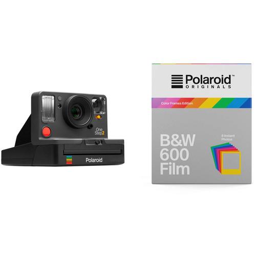Polaroid Originals OneStep2 VF Instant Film Camera with Black & White Color Frames Film Kit (Graphite)