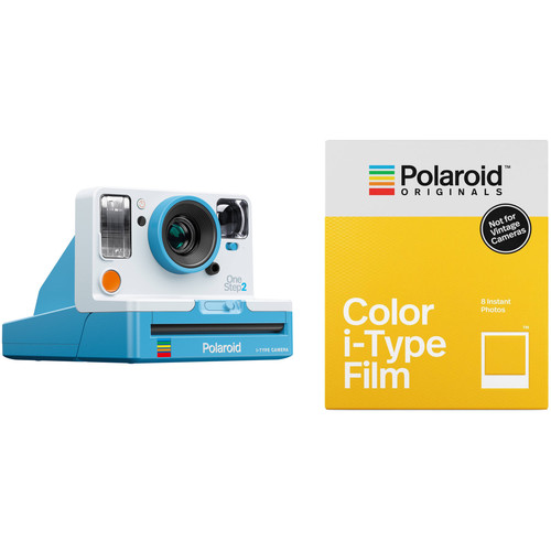 Polaroid Originals OneStep2 VF Instant Film Camera with Color Film Kit (Summer Blue)