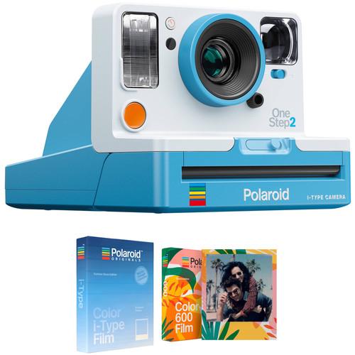 Polaroid Originals OneStep2 VF Instant Film Camera with Summer Blues and Tropics Editions Film Kit (Summer Blue)