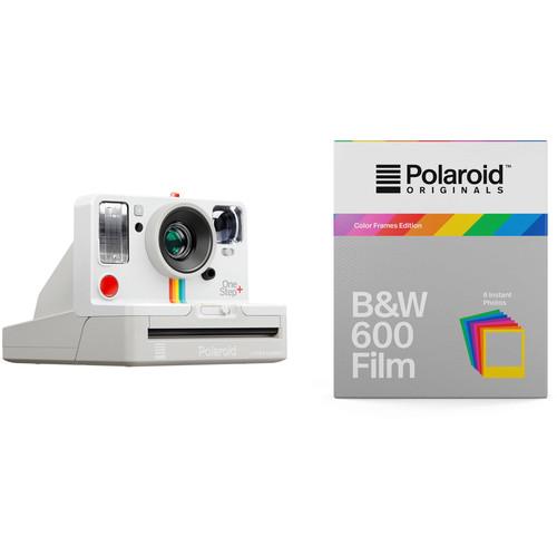 Polaroid Originals OneStep+ Instant Film Camera with Black & White Color Frames Film Kit