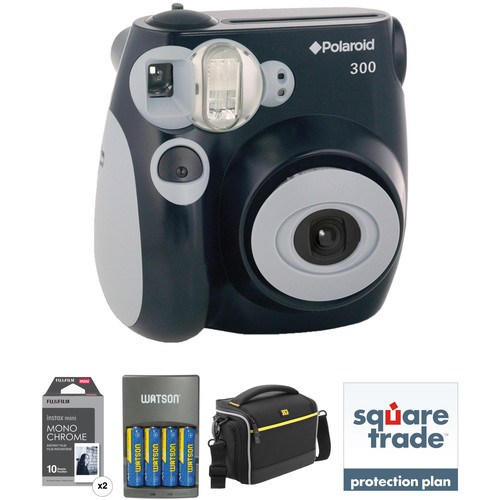 Polaroid Pic-300 Instant Film Camera Basic Kit (Black)