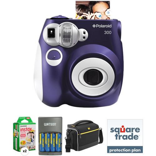 Polaroid Pic-300 Instant Film Camera Basic Kit (Purple)