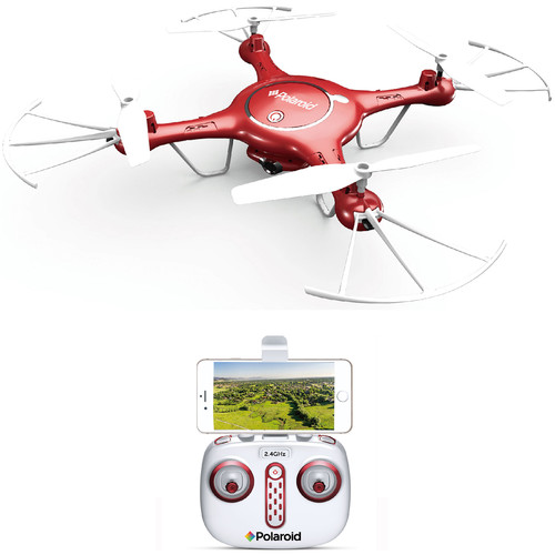 Polaroid PL2000 Quadcopter with 720p HD Wi-Fi Video (Red)