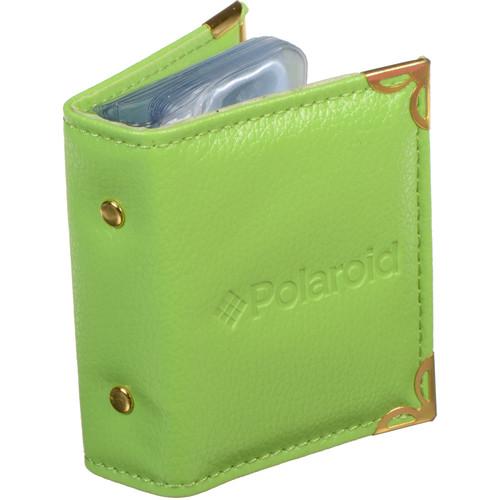 """Polaroid Wallet-Sized Leatherette Photo Album for 2 x 3"""" Prints (Green)"""