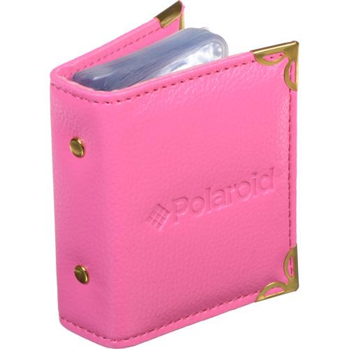 "Polaroid Wallet-Sized Leatherette Photo Album for 2 x 3"" Prints (Pink)"