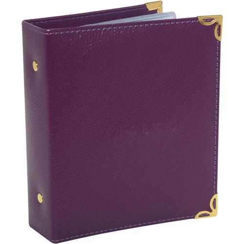"Polaroid Wallet-Sized Leatherette Photo Album for 2 x 3"" Prints (Purple)"