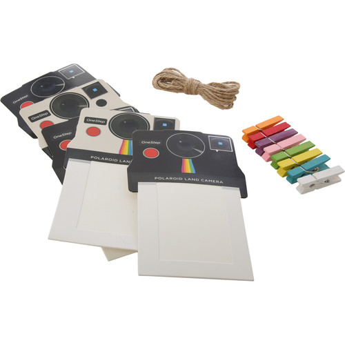 "Polaroid 2 x 3"" Vintage Camera Photo Frames (Black/White, 8-Pack)"