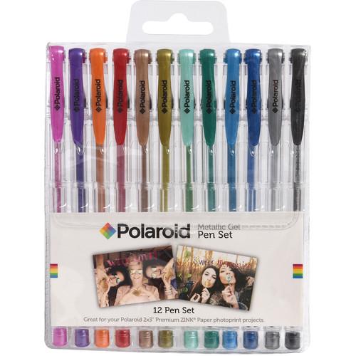 Polaroid Gel Pen Set (Metallic, 12-Pack)