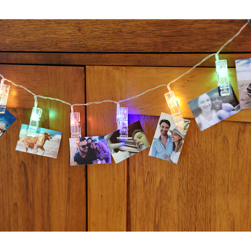 Polaroid Photo Clip LED Light String (Clear, 6.5')