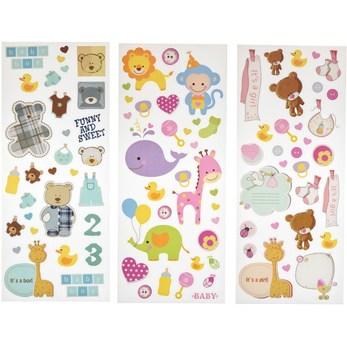 Polaroid Scrapbook Stickers (Baby)