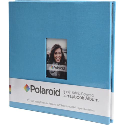 """Polaroid Fabric Covered Scrapbook Album (8 x 8"""", Blue)"""