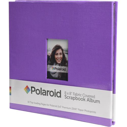 """Polaroid Fabric Covered Scrapbook Album (8 x 8"""", Purple)"""