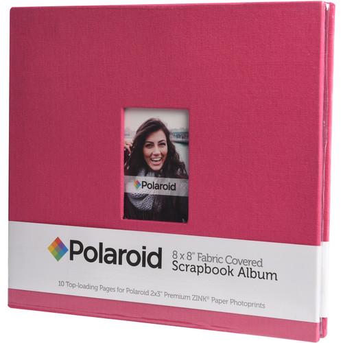 """Polaroid Fabric Covered Scrapbook Album (8 x 8"""", Red)"""